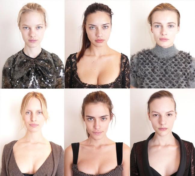 S lijeva na desno (prvi red): Hannah Holman, Adriana Lima, Edita Vilkeviciute S lijeva na desno (drugi red): Karolina Kurkova, Renata Sozzi, Sara Blomqvist